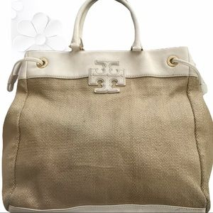 🎋Tory Burch | Canvas & Leather Bag